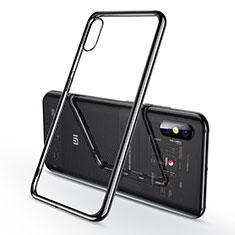 Coque Ultra Fine TPU Souple Housse Etui Transparente H02 pour Xiaomi Mi 8 Explorer Noir