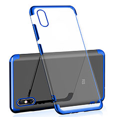 Coque Ultra Fine TPU Souple Housse Etui Transparente H02 pour Xiaomi Mi 8 Screen Fingerprint Edition Bleu