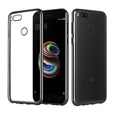 Coque Ultra Fine TPU Souple Housse Etui Transparente H02 pour Xiaomi Mi A1 Noir