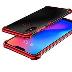 Coque Ultra Fine TPU Souple Housse Etui Transparente H02 pour Xiaomi Mi A2 Lite Rouge