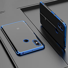 Coque Ultra Fine TPU Souple Housse Etui Transparente H02 pour Xiaomi Mi Max 3 Bleu