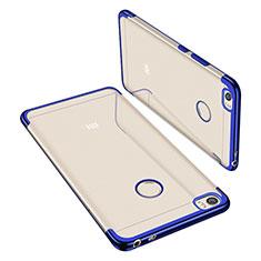 Coque Ultra Fine TPU Souple Housse Etui Transparente H02 pour Xiaomi Mi Max Bleu
