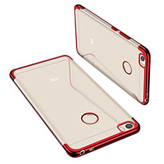 Coque Ultra Fine TPU Souple Housse Etui Transparente H02 pour Xiaomi Mi Max Rouge