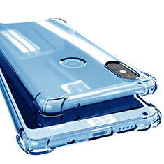Coque Ultra Fine TPU Souple Housse Etui Transparente H02 pour Xiaomi Mi Mix 2S Bleu