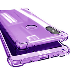 Coque Ultra Fine TPU Souple Housse Etui Transparente H02 pour Xiaomi Mi Mix 2S Violet