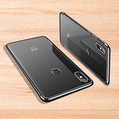 Coque Ultra Fine TPU Souple Housse Etui Transparente H02 pour Xiaomi Mi Mix 3 Noir