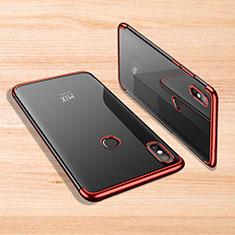 Coque Ultra Fine TPU Souple Housse Etui Transparente H02 pour Xiaomi Mi Mix 3 Rouge