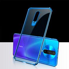 Coque Ultra Fine TPU Souple Housse Etui Transparente H02 pour Xiaomi Poco X2 Bleu