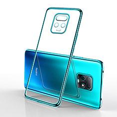 Coque Ultra Fine TPU Souple Housse Etui Transparente H02 pour Xiaomi Redmi 10X Pro 5G Cyan