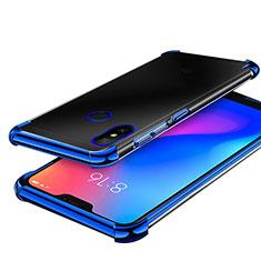 Coque Ultra Fine TPU Souple Housse Etui Transparente H02 pour Xiaomi Redmi 6 Pro Bleu