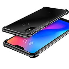 Coque Ultra Fine TPU Souple Housse Etui Transparente H02 pour Xiaomi Redmi 6 Pro Noir
