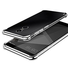 Coque Ultra Fine TPU Souple Housse Etui Transparente H02 pour Xiaomi Redmi Note 4 Argent