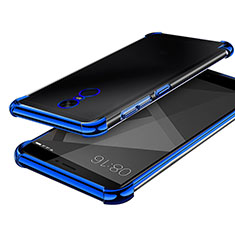 Coque Ultra Fine TPU Souple Housse Etui Transparente H02 pour Xiaomi Redmi Note 4 Bleu