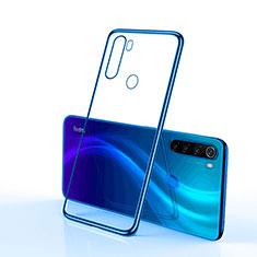 Coque Ultra Fine TPU Souple Housse Etui Transparente H02 pour Xiaomi Redmi Note 8 Bleu