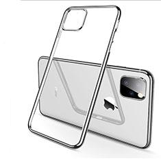 Coque Ultra Fine TPU Souple Housse Etui Transparente H03 pour Apple iPhone 11 Pro Max Argent