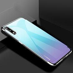 Coque Ultra Fine TPU Souple Housse Etui Transparente H03 pour Huawei Enjoy 10 Argent
