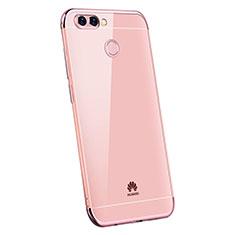 Coque Ultra Fine TPU Souple Housse Etui Transparente H03 pour Huawei Enjoy 7S Or Rose