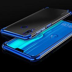 Coque Ultra Fine TPU Souple Housse Etui Transparente H03 pour Huawei Enjoy 9 Plus Bleu