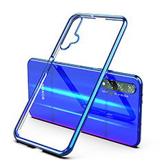 Coque Ultra Fine TPU Souple Housse Etui Transparente H03 pour Huawei Honor 20 Bleu