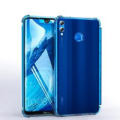 Coque Ultra Fine TPU Souple Housse Etui Transparente H03 pour Huawei Honor 8X Max Bleu Ciel