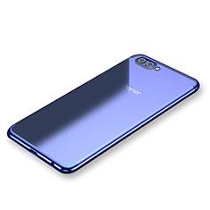 Coque Ultra Fine TPU Souple Housse Etui Transparente H03 pour Huawei Honor V10 Bleu