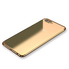 Coque Ultra Fine TPU Souple Housse Etui Transparente H03 pour Huawei Honor V10 Or
