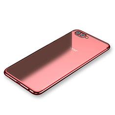 Coque Ultra Fine TPU Souple Housse Etui Transparente H03 pour Huawei Honor V10 Rouge