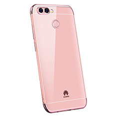Coque Ultra Fine TPU Souple Housse Etui Transparente H03 pour Huawei P Smart Or Rose