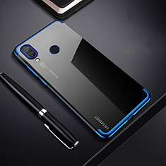 Coque Ultra Fine TPU Souple Housse Etui Transparente H03 pour Huawei P Smart+ Plus Bleu