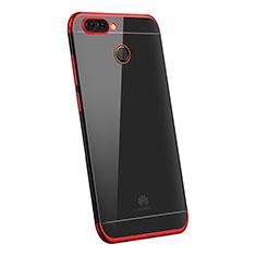 Coque Ultra Fine TPU Souple Housse Etui Transparente H03 pour Huawei P Smart Rouge