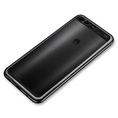 Coque Ultra Fine TPU Souple Housse Etui Transparente H03 pour Huawei P10 Plus Noir