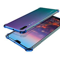 Coque Ultra Fine TPU Souple Housse Etui Transparente H03 pour Huawei P20 Bleu
