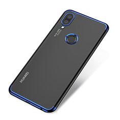 Coque Ultra Fine TPU Souple Housse Etui Transparente H03 pour Huawei P20 Lite Bleu