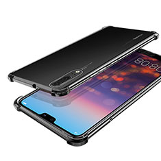 Coque Ultra Fine TPU Souple Housse Etui Transparente H03 pour Huawei P20 Noir