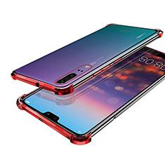 Coque Ultra Fine TPU Souple Housse Etui Transparente H03 pour Huawei P20 Rouge