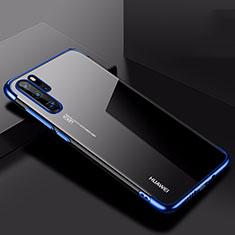 Coque Ultra Fine TPU Souple Housse Etui Transparente H03 pour Huawei P30 Pro Bleu
