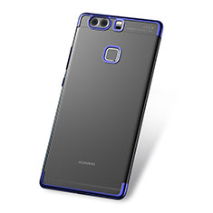 Coque Ultra Fine TPU Souple Housse Etui Transparente H03 pour Huawei P9 Bleu