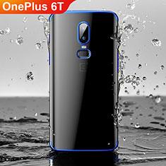 Coque Ultra Fine TPU Souple Housse Etui Transparente H03 pour OnePlus 6T Bleu