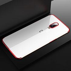 Coque Ultra Fine TPU Souple Housse Etui Transparente H03 pour OnePlus 6T Rouge