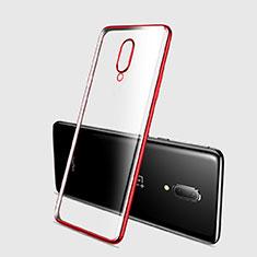 Coque Ultra Fine TPU Souple Housse Etui Transparente H03 pour OnePlus 7 Pro Rouge
