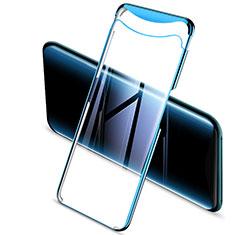 Coque Ultra Fine TPU Souple Housse Etui Transparente H03 pour Oppo Find X Bleu