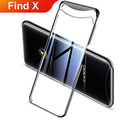 Coque Ultra Fine TPU Souple Housse Etui Transparente H03 pour Oppo Find X Noir
