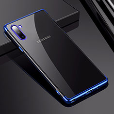 Coque Ultra Fine TPU Souple Housse Etui Transparente H03 pour Samsung Galaxy Note 10 Bleu