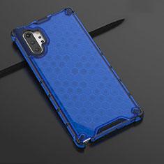 Coque Ultra Fine TPU Souple Housse Etui Transparente H03 pour Samsung Galaxy Note 10 Plus Bleu