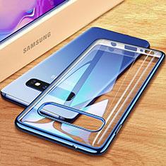 Coque Ultra Fine TPU Souple Housse Etui Transparente H03 pour Samsung Galaxy S10 Bleu