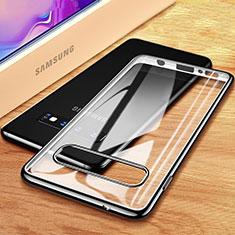 Coque Ultra Fine TPU Souple Housse Etui Transparente H03 pour Samsung Galaxy S10 Plus Noir
