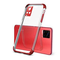 Coque Ultra Fine TPU Souple Housse Etui Transparente H03 pour Vivo V20 Pro 5G Rouge