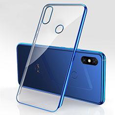 Coque Ultra Fine TPU Souple Housse Etui Transparente H03 pour Xiaomi Mi Mix 3 Bleu