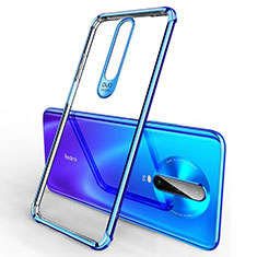 Coque Ultra Fine TPU Souple Housse Etui Transparente H03 pour Xiaomi Poco X2 Bleu
