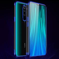 Coque Ultra Fine TPU Souple Housse Etui Transparente H03 pour Xiaomi Redmi Note 8 Pro Bleu